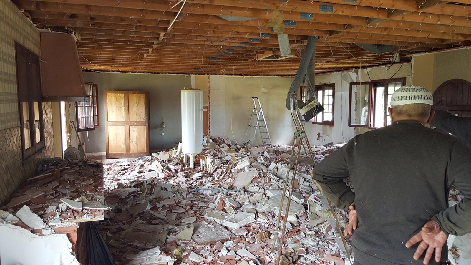 Demolition intérieur pour la rénovation de cette annexe